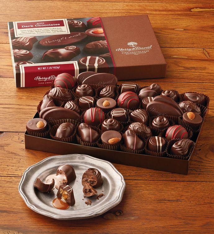 Dark chocolate gift box from harry david negle Choice Image