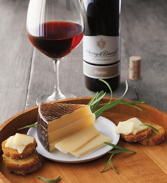 El Hidalgo Quesos Manchego Cheese and Harry  Davidtrade Merlot
