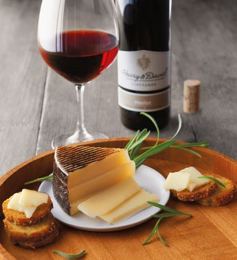 Spanish Roblevilla Manchego Cheese and Harry  Davidtrade Merlot