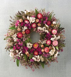Mother's Day Pink Floral Wreath