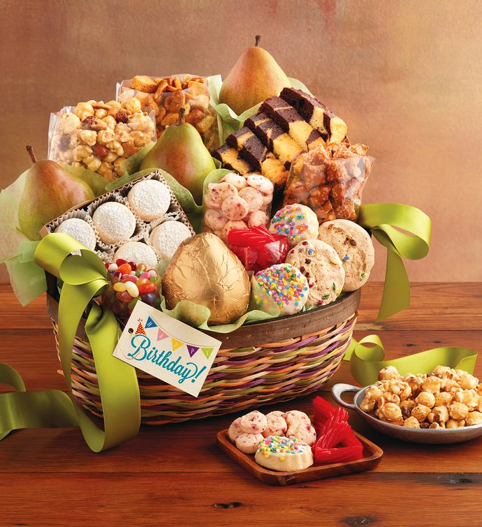 Harry And David Birthday Gift Baskets : Deluxe birthday basket harry david