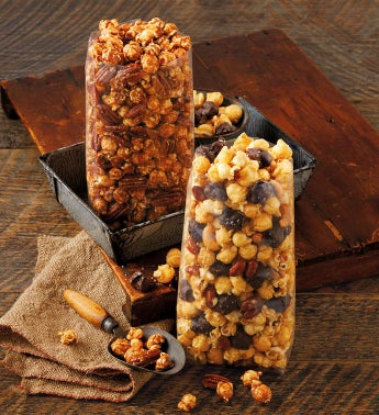 Moose Munch® Premium Popcorn Seasonal Duo - Cinnamon Maple Pecan and Salted Caramel