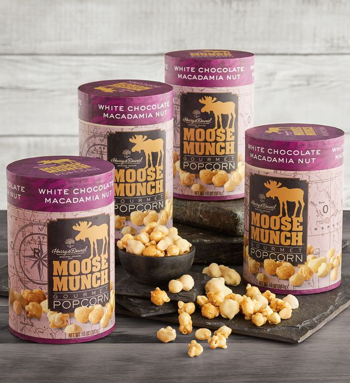 Pack Limited Edition Moose Munch Premium Popcorn  White Chocolate Macadamia Nut