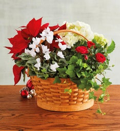 Holiday Floral Basket