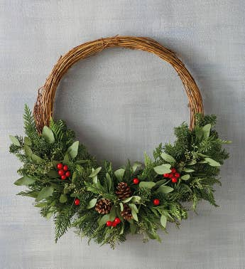 Modern Evergreen Wreath