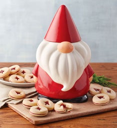 Gnome Cookie Jar with Cookies