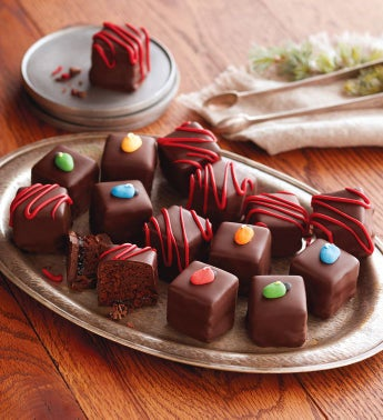Holiday Brownie Bombs