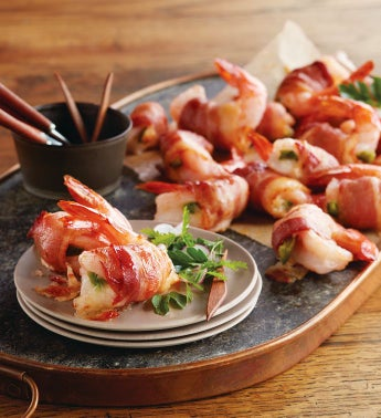 Bacon-Wrapped Stuffed Shrimp