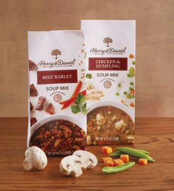 Beef Barley and Chicken and Dumpling Soup Mixes