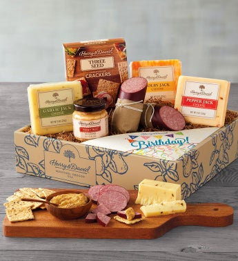 Happy Birthday Meat And Cheese Gift Box
