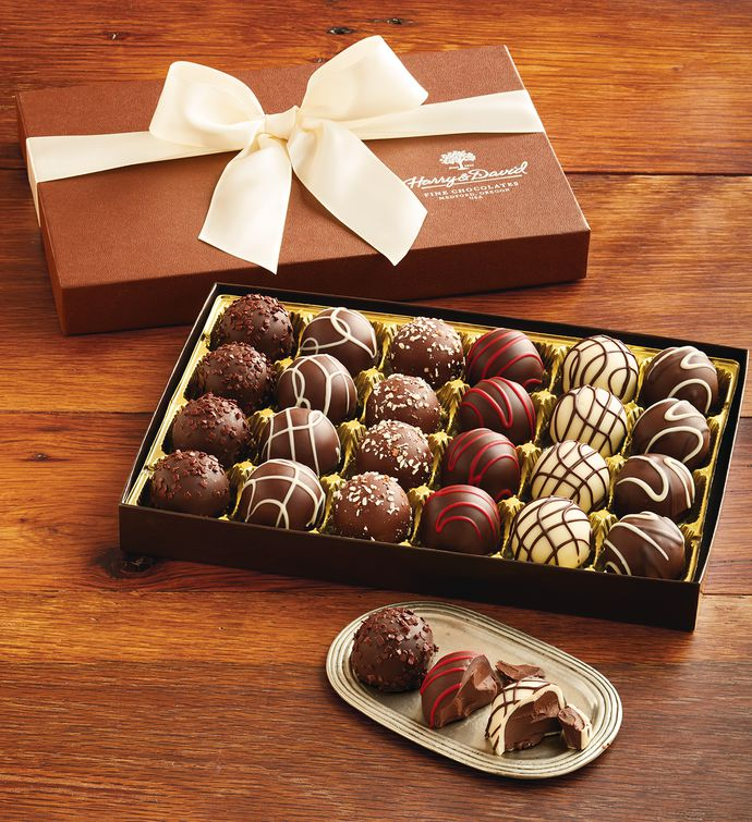 Chocolate Gift Baskets: Signature Chocolate Truffles Gift Box: Chocolate Gifts