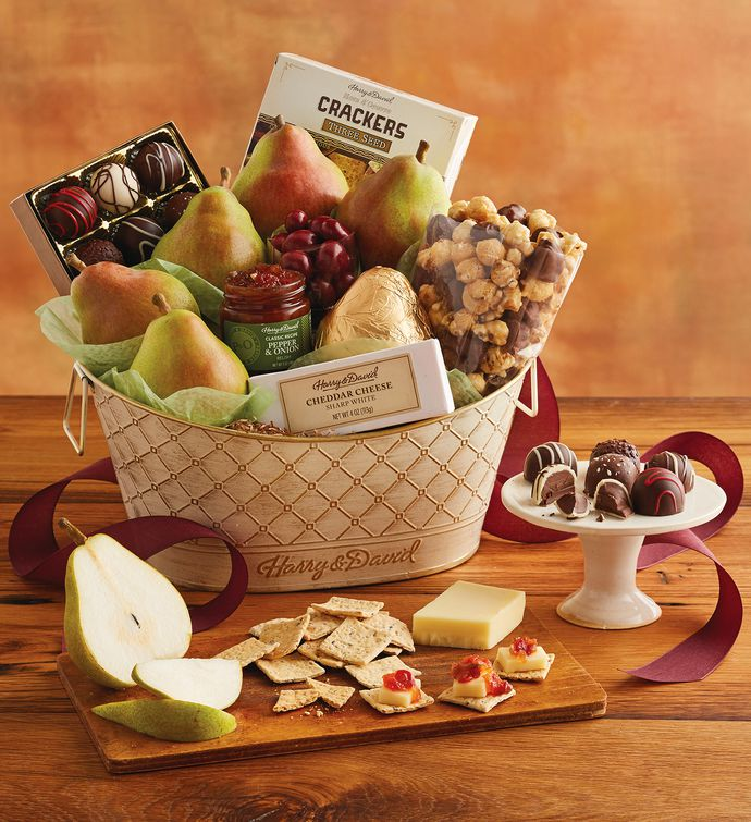 Online gift baskets fruit and food gifts wine clubs harry david classic favorites gift basket negle Image collections
