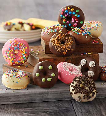 Chocolate-Dipped Mini Donuts