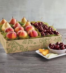 Royal Verano Pears Oregold Peaches and PlumpSweet Cherries