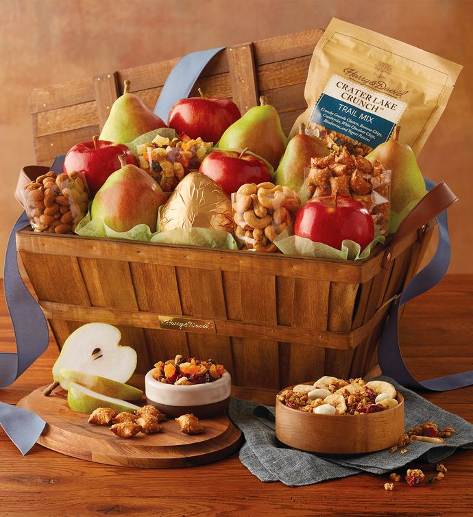 Deluxe orchard gift basket fruit baskets harry david negle Choice Image