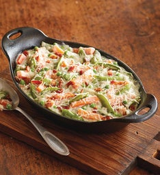 Creamy Snap Peas with Bacon