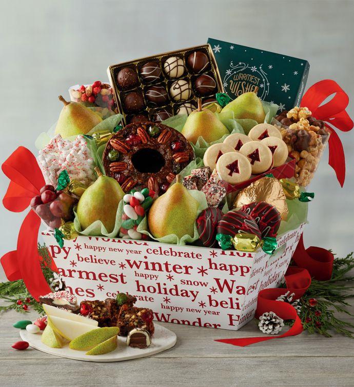 deluxe christmas gift basket harry david
