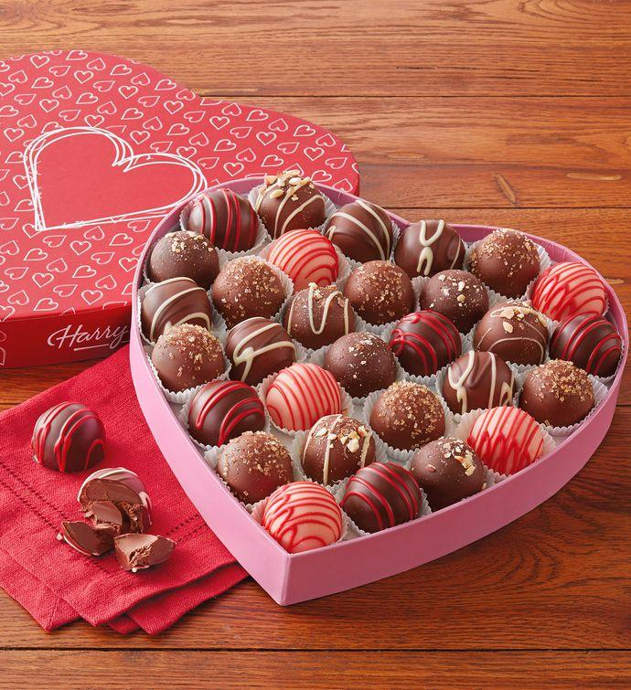 valentine's day chocolate truffles | harry & david, Ideas