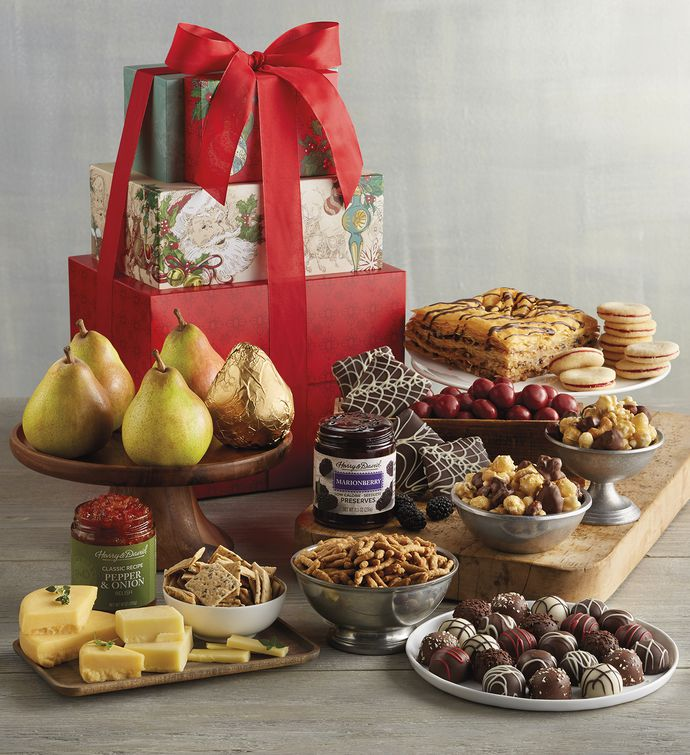 Holiday Sweet and Savory Gift Tower| Harry & David