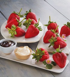Mother's Day Strawberries, Devonshire Cream, and Chocolate Dipping Sauce