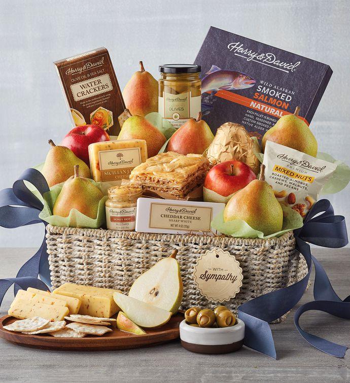 Grand Sympathy Gift Basket snipeImage & Condolence Gift Baskets | Sympathy Basket Delivery | Harry u0026 David