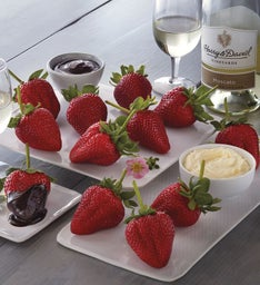 Mothers Day Strawberries Devonshire Cream and Harry  Davidtrade Moscato