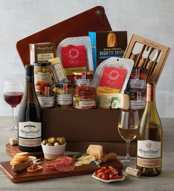 Deluxe Antipasto Assortment With Wine SnipeImage