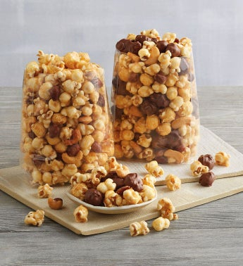 Moose Munch® Premium Popcorn Duo - Milk Chocolate and Caramel Mix