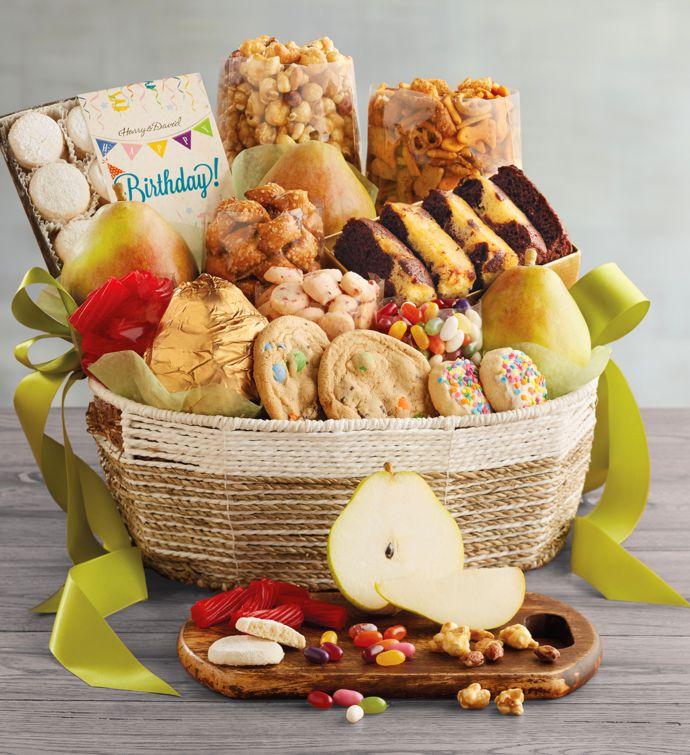 Happy Birthday Gift Tower By Gourmetgiftbaskets Com: Deluxe Birthday Basket