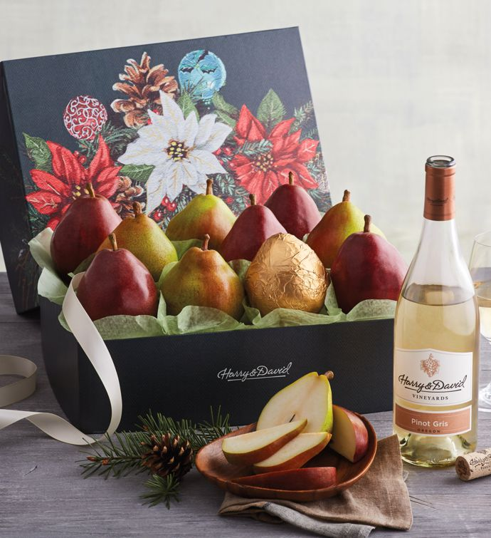 Holiday Pears and Wine