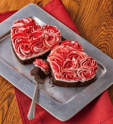 Chocolate Rose Heart Cakes