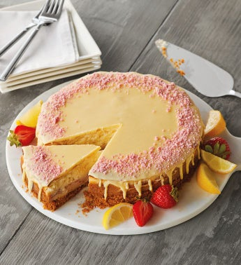 Lemon Strawberry Cheesecake