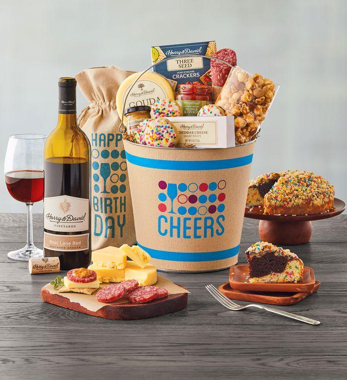 Deluxe Happy Birthday Wine Gift