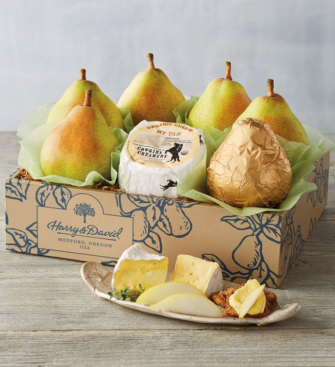 Organic Royal Riviera® Pears and Cheese Gift Box