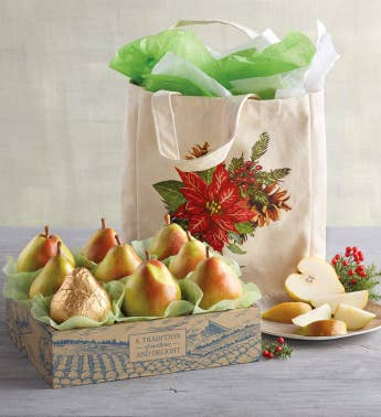 Holiday Tote and Royal Riviera Pears174 Gift