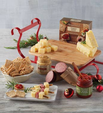 Meat and Cheese Sled Gift