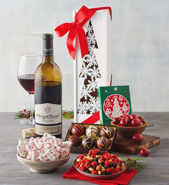 Christmas Tree Wine Gift Box