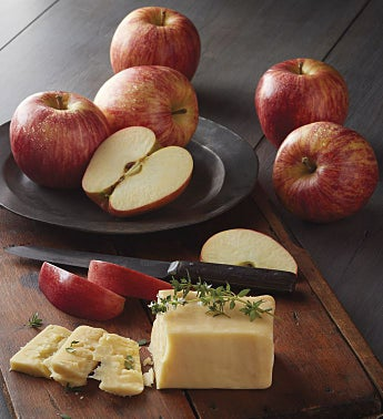 Apples and Aged White Cheddar