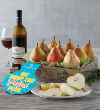 """We Make the Perfect Pear"" Gift with Wine"