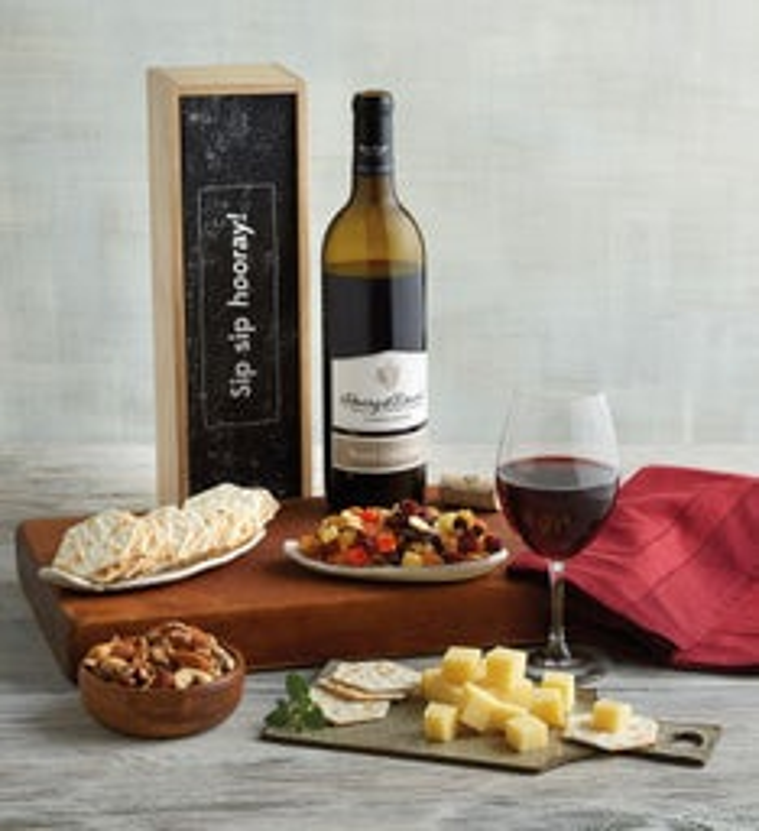 """Sip Sip Hooray"" Wine Gift Box"