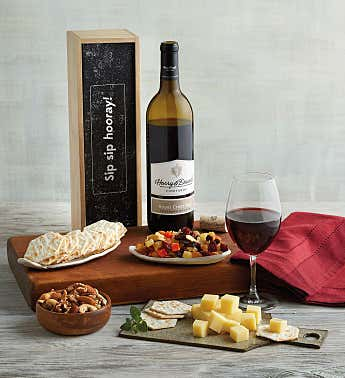 """Sip Sip Hooray"" Wine Gift Box"
