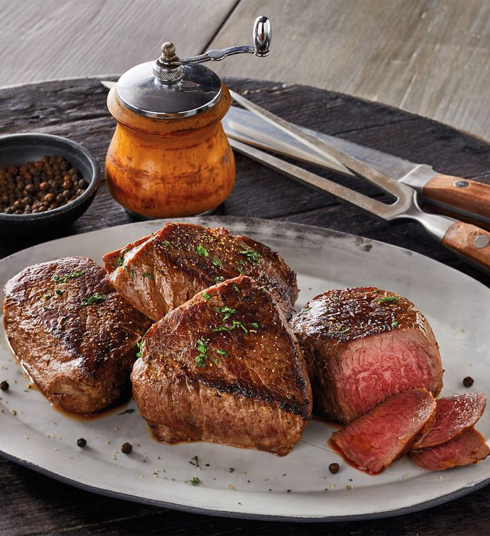 BourbonPeppercorn Marinated Steaks FourPack