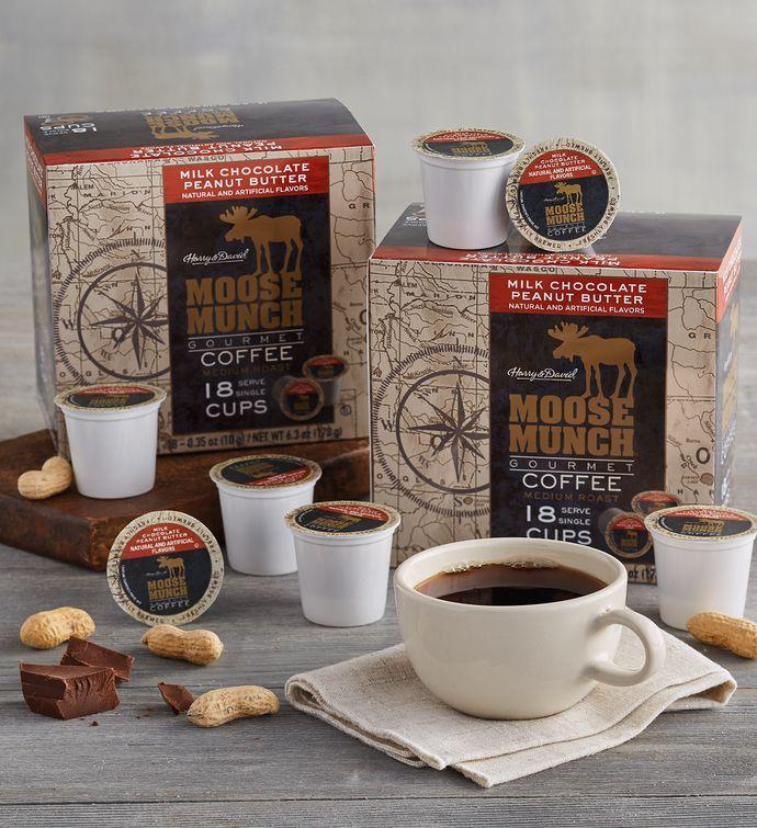 Moose Munch Milk Chocolate Peanut Butter SingleServe Coffee TwoPack