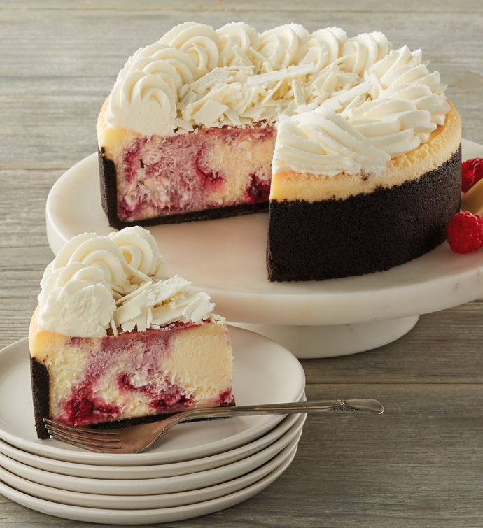 The Cheesecake Factory White Chocolate Raspberry Truffle Cheesecake