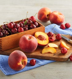 Oregold Peaches and PlumpSweet Cherries