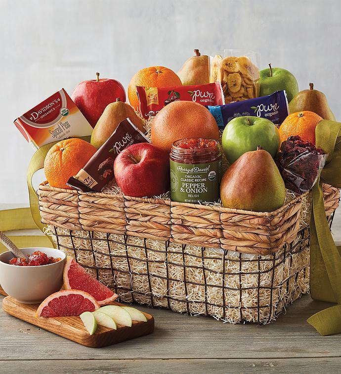 Deluxe Organic Fruit Gift Basket snipecorner