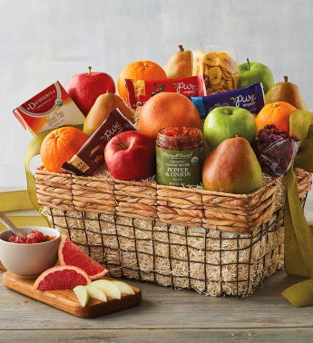 Deluxe Organic Fruit Gift Basket by Harry & David