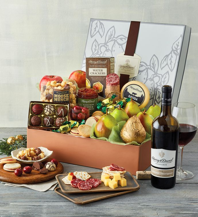 New Years Founders Favorites Gift Box with Wine