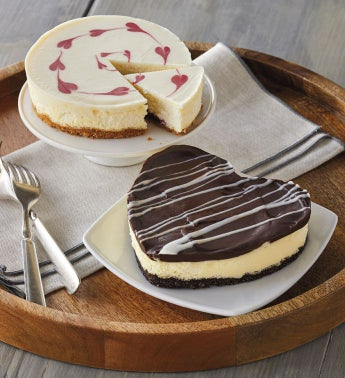 Valentine39s Day Cheesecake Duo