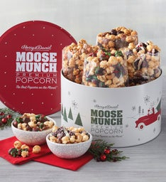 Moose Munch Premium Popcorn Holiday Tin